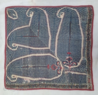 Rare Palledar Fragment of Kani Jamawar, From Kashmir, India. c.1800-1825. Its Size is 37cmx37cm (20210106_193344).