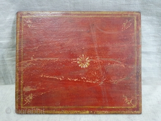 Rare Krishna Lila Book Cover For Manuscript, Hand-Painted On the Wood Board From Gujarat India. India. Early 19th Century. Its size is 16cmX20cm(DSC08859).