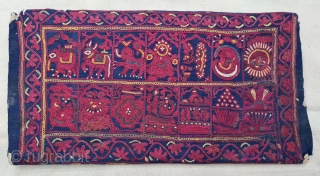 Mochi Bharat Embroidery Book Cover , Silk Embroidery on the Satin Silk, From Kutch, Gujarat. India. C.1850-70.