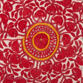 Abochhini Wedding Shawl from Sindh Region of Undivided India. India Silk Embroidery on the Cotton, c.1850-1870.Its size is 146cmX210cm(IMG_0639).