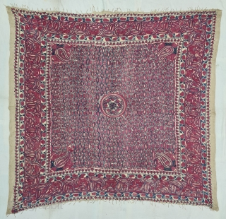 Hajji Ceremonial Rumal , This Textile for the Hajj People, Made in Bengal. India.Bought by South East Asian People when they went for Hajj.This are also Bought in Aden, Mecca or sea  ...