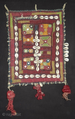 Six Different type's off Ceremonial Banjara Gala From different Region of India. India. C.1900.Embroidered on cotton. Gala is traditionally used by women to carry pots on their heads(154137).