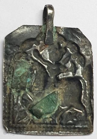 Tribal Indian Silver Pendant of Ramapir From Kutch Gujarat India.India. C.1900(20200624_162342).