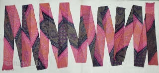 Muslin turban cloth tie-dyed in multiple colours And Multipal Design,Natural Colours, From Mewar (Udaipur) District Of Rajasthan. India. c.1900. Its size is near by 10 to 12 miters(20200702_143050).