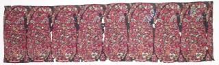 Rare Palledar Fragment of Kani Jamawar, From Kashmir, India. c.1760-1800. Its Size is 33cmx117cm (DSC08414).