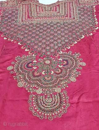 Abha (Abho) Of  Fine Embroidery from the Syed Community of Banni District Kutch Gujarat. India. India.Silk Embroidered with Silk Threads, Tiny Mirror-Glass Discs, 19th Century (20201031_134341).