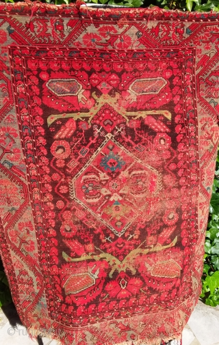 Smyrn, mid 19th, bad condition, but very original 140 x125. Price upon request