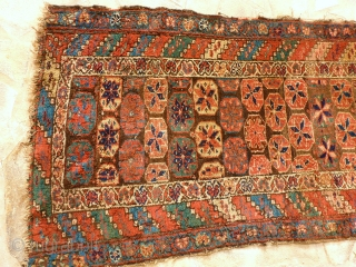 Antique Kurde, 300 x 90, very good pile, natural colors, redone fringe and borders. Price upon request