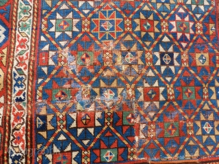Gandjé or Moghan, early 19th century, fragment, 230 x 130, condition see the photos.