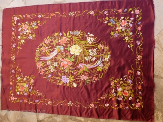 Silk Chinese embroidery 108 x 77 Price upon request