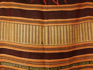 Antique Indonesian silk textile, vegetable color,  156 x 40