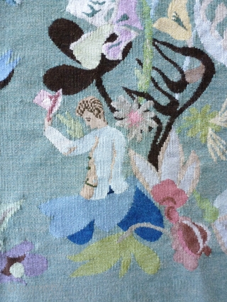 Aubusson circa 1950/60, in the spirit of Marie Laurencin, 64 x 54. Price upon request.