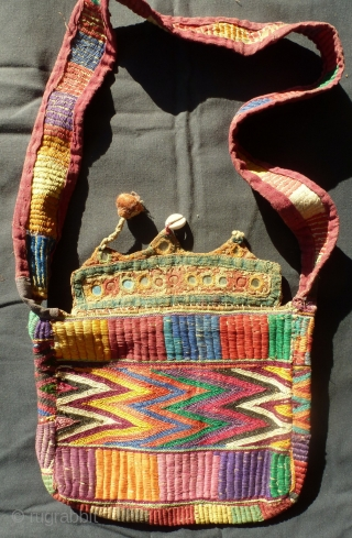 Small bag from Rajasthan, late 19th century, very charming.