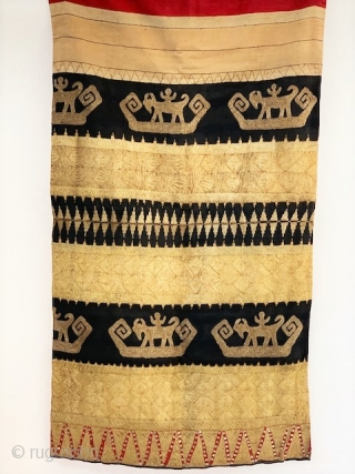 22K gold thread tapis from Lampung Sumatra. first quarter of the 20th c