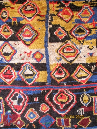 MOROCCAN BERBER RUG which is an old peice from the Ourika Valley in the foothills of the southern High Atlas Mountains. The Berbers are both frugal and creative and both qualities are  ...