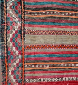 KURDISH KILIM FROM THE REGION OF QUCHAN which lies between the city of Meshed and extends north to the Persian border with Turkmenistan. It is a fine old piece with dozens of  ...