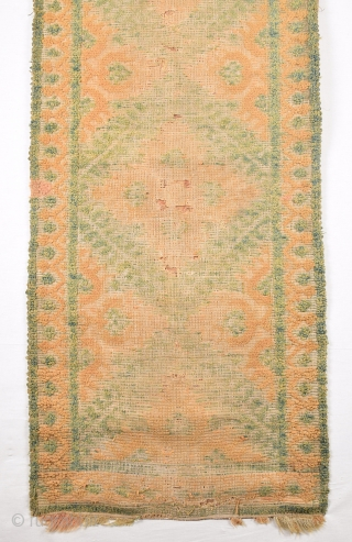 17th Century Spanish Rug Really Unusual Size 60 x 130 Cm