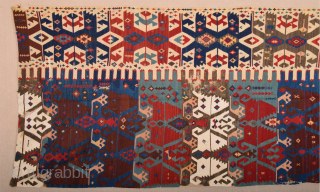 Early 19th Century Central Anatolian Hotamıs Area kilim fragment All the colors are natural and have great colors .You can see from images easliy some areas need small repairs really small !  ...