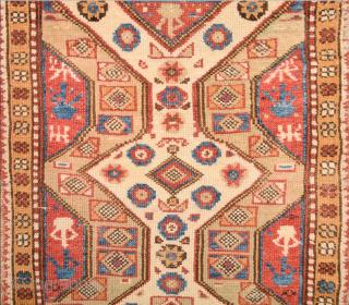 19th Century Dazkırı Yastık.This yastik shows a miniature version of the same design seen in larger Dazkırı carpets It has white field great colors size 68 x 82 cm