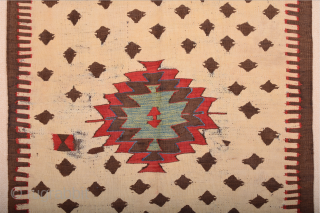 18th Century Rare Example Unique Size! This White Field single-panel village kilim was woven in the Mut region in the foothills of the Taurus Mountains. Kilims have probably been woven in that  ...