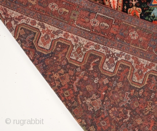 19th Century Persian Khamseh Rug in good condition size 142x185 Cm