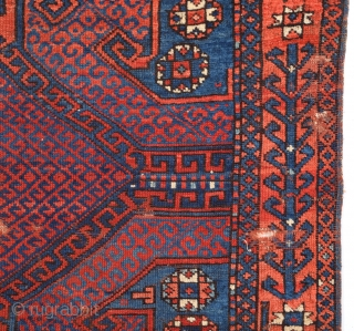 Circa 1800s Anatolian Bergama Probably Yüncü Area Unusual Rug.It's in Good Condition And Has Good Pile Need Some Small Work or Keep As It Is.Size 128 x 131 Cm