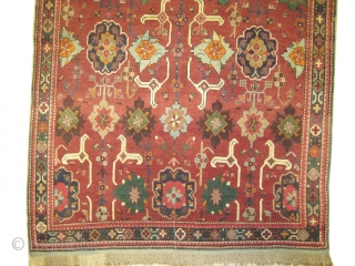 "Karabag Caucasian knotted circa in 1910, antique, collector's item,  243 x 144 (cm) 8'  x 4' 9""  carpet ID: H-208
