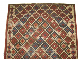 Shirvan Caucasian kelim, circa 1910 antique, collectors item, size: 168 x 311cm,  carpet ID: RO-4