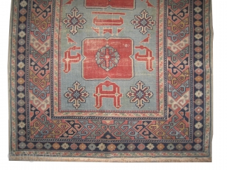 """Karagashli Caucasian semi antique,  142 x 87 (cm) 4' 8"""" x 2' 10""""  carpet ID: OZ-1 The pile of certain places at the center is slightly used, the background color is  ..."""