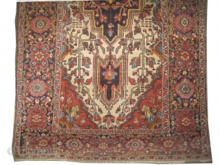 "Farahan-Sarouk Persian, knotted circa in 1905 antique, 223 x 114 (cm) 7' 4"" x 3' 9"" 