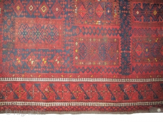 """Belutch Persian, knotted circa in 1920, antique, collectors item, 238 x 126 (cm) 7' 10"""" x 4' 2""""  carpet ID: BROR-1 The knots, the warp and the weft threads are lamb wool.  ..."""