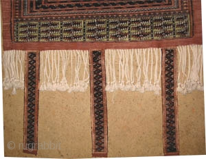 """Baby's cradle Tekke Turkmen 100% silk, old, collector's item. Size: 88 x 79 (cm) 2' 11"""" x 2' 7""""  carpet ID: K-1103 The warp, the weft and the knots are hand spun  ..."""