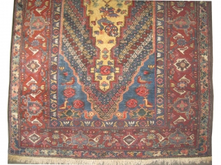 """Baktiar Paradoumbe Persian knotted circa in 1925, semi antique, 225 x 130 (cm) 7' 5"""" x 4' 3""""  carpet ID: K-4059 The knots, the warp and the weft threads are hand  ..."""