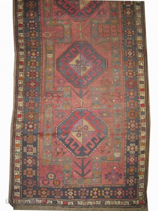 "Yuruk Anatolian circa 1920. Size: 217 x 111 (cm) 7' 1"" x 3' 8""  carpet ID: K-3351