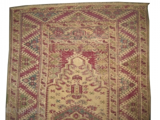 """Ghiordez-Keiz Turkish circa 1820 antique. Collector's item, Size: 180 x 112 (cm) 5' 11"""" x 3' 8""""  carpet ID: K-5796 The warp and the weft threads are 100% wool, the knots are  ..."""