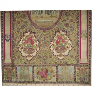 "Pictorial Hajijelili Tabriz Signed Persian knotted circa in 1926, semi antique, collector's item, 309 x 190 (cm) 10' 2"" x 6' 3""  carpet ID: P-4540