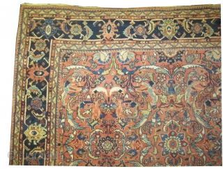 "Ziegler-Mahal Persian knotted circa in 1905 antique, 387 x 270 (cm) 12' 8"" x 8' 10""  carpet ID: P-6280