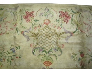 "Cogolin savonnerie French circa 1935 Semi-antique. Size: 535 x 345 (cm) 17' 6"" x 11' 4"" 