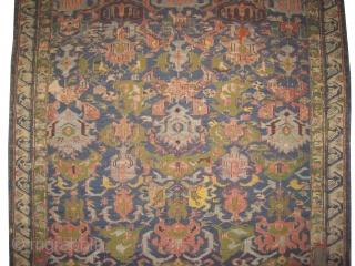 "Bidjof Soumak Caucasian, woven circa in 1800 antique, collector's item and rare example. 273 x 128 (cm) 8' 11"" x 4' 2""  carpet ID: A-850 Woven with Soumak technique and hand spun  ..."