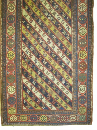 "Gendja Caucasian knotted circa in 1860 antique, collector's item. 470 x 96 (cm) 15' 5"" x 3' 2""  carpet ID: K-4988