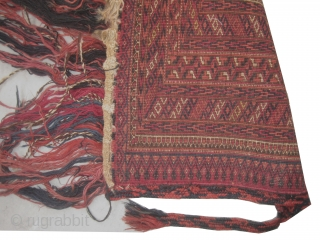 Mafrash Turkmen, knotted, antique, collectors item, 37 x 121 cm, carpet ID: SRO-2 Very finely knotted, high pile in perfect condition.