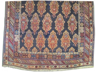 "Afshar Persian, knotted circa in 1890 antique, collector's item, 200 x 135 (cm) 6' 7"" x 4' 5""  carept ID: K-5577
