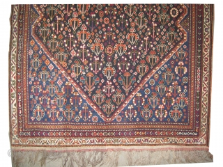 "Mille Fleurs Qashqai Persian knotted circa in 1915 antique, collector's item, 194 x 121 (cm) 6' 4"" x 4'  carpet ID: K-5230