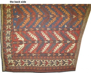 """Yemouth Osmalduk, antique, 1870. CarpetID: K-1308. Size: 124 x 75 (cm) 4' 1"""" x 2' 6"""" feet. Collector's item. Minor used places, vegetable dyes, the warp and the weft threads are 100%  ..."""