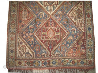 "Qashqai Persian circa 1890 antique, collector's item, Size: 200 x 140 (cm) 6' 7"" x 4' 7"" feet, carpet ID: K-5313 