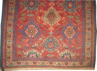 "Afshar Persian circa 1925, Size: 87 x 72 (cm) 2' 10"" x 2' 4"" carpet ID: K-5178 vegetable dyes, the black color is oxidized, the knots are hand spun wool, warm rust  ..."