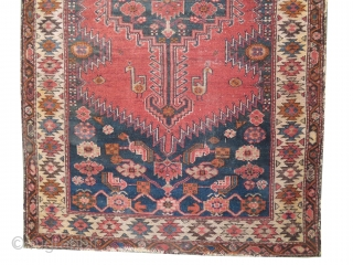 """Farahan Persian knotted circa in 1905, antique, collector's item, 190 x 106 (cm) 6' 3"""" x 3' 6""""  carpet ID: K-5706 The black color is oxidized, the knots are hand spun  ..."""