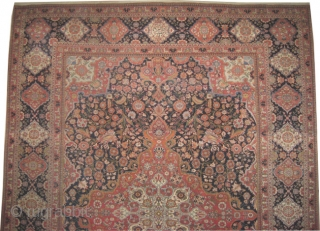 """Mohtashem Kashan Persian dated, antique. Collector's item. Famous carpet,Size: 309 x 232 (cm) 10' 2"""" x 7' 7""""  carpet ID: P-665    Signed as: Sayid Mahmoud Farmaïsh eml. and dated 1322  ..."""
