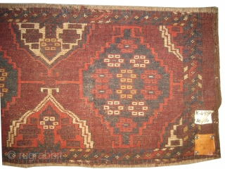"Tschaudor Turkmen circa 1890 antique. Collector's item. Size: 154 x 36 (cm) 5' 1"" x 1' 2""  carpet ID: K-4954