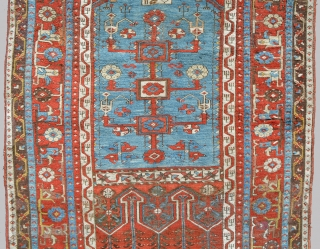 "Beautiful Ladik Prayer 4'1"" x 6'9"", dated 1270/1853. Spacious and well drawn design with wonderful old colors, aubergene, yellow, green, light blue and saturated reds. Classic motifs with beautifully formed Tulips and  ..."